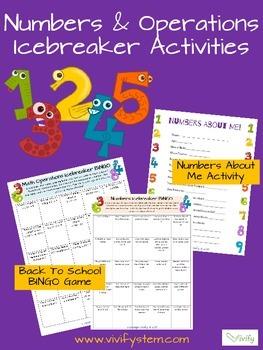 Number & Operations Icebreaker Activities