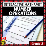 Number Operations Interactive Notebook Grade 3