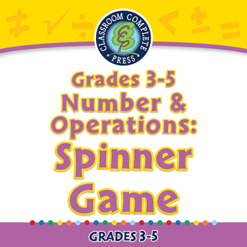 Number & Operations: Spinner Game - PC Gr. 3-5