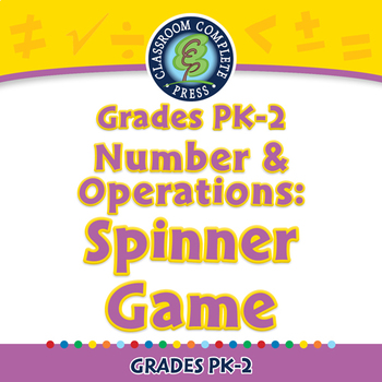 Number & Operations: Spinner Game - PC Gr. PK-2
