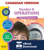 Number & Operations - Task & Drill Sheets Gr. 6-8 - Canadian Content