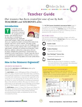 Number & Operations - Task & Drill Sheets Gr. PK-2 - Canadian Content