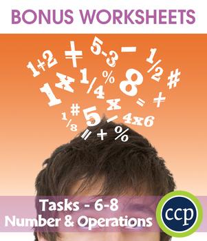 Number & Operations - Task Sheets Gr. 6-8 - BONUS WORKSHEETS