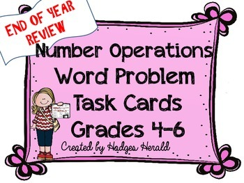 Number Operations Word Problems Grade 4-6