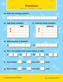 Number & Operations: Word Problems Vol. 4 Gr. PK-2