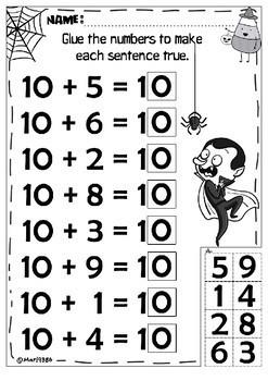 Number & Operations in Base Ten for Kindergarten. HALLOWEEN