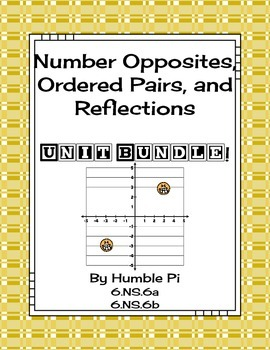 Number Opposites, Ordered Pairs, and Reflections Bundle-6.
