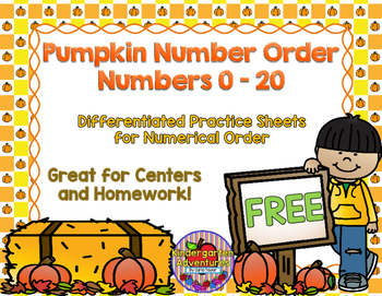 Pumpkin Number Order (Numbers 0-20)