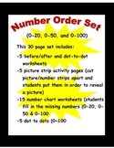 Number Order 0-20, 50 and 100 (30 page set)
