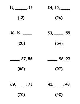 Number Order 1-100