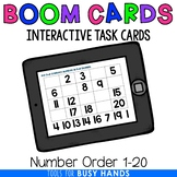 Number Order 1-20 Digital Task Cards (Boom! Deck)