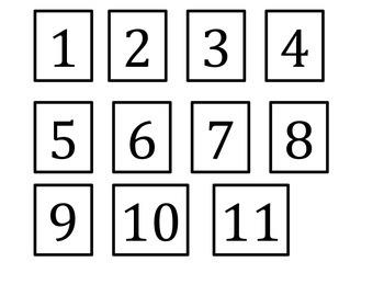Number Order 1-21