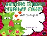 Number Order 1-30 Valentine's Day Task Cards File Folder Game Math Center