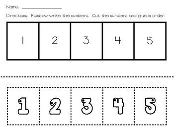 Number Order 1-5