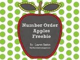 Number Order Apples