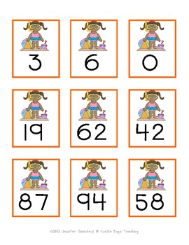 Number Order Cards - Summer Theme