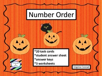 Number Order Center Halloween Theme