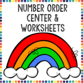 Number Order Center and Worksheets