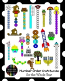 Math Activities with Number Order Crafts MEGA BUNDLE for t