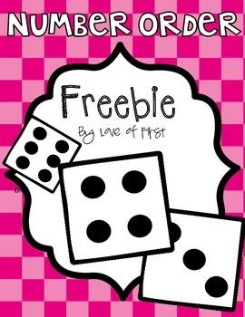 Number Order Dice Fun-Freebie!