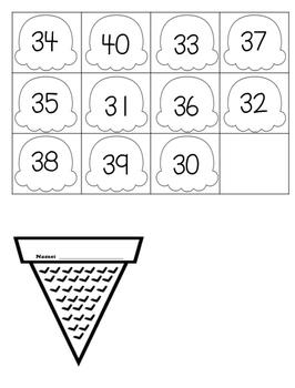 Number Order Ice Cream Cones