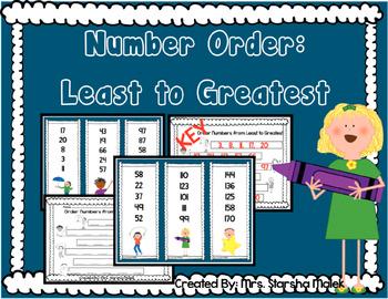 Number Order: Least to Greatest (S.Malek Freebie)
