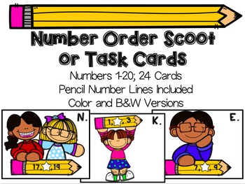 Number Order Pencil Scoot - Fill in the Missing Number Scoot 1-20
