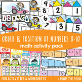 Number Order & Position Games & Centers {Math Activities Pack #7}