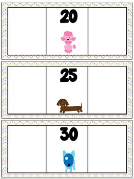 Number Order Practice-Dog Theme