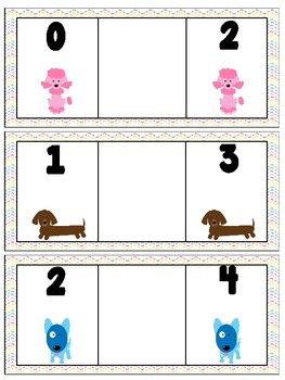 Number Order Practice-Dog Theme {freebie}