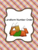 Number Order- Putting Numbers in Order- Landform Theme