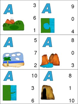 Number Order- Putting Numbers in Order- Landform Theme