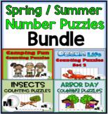Number Order Puzzles Spring Summer Theme Bundle