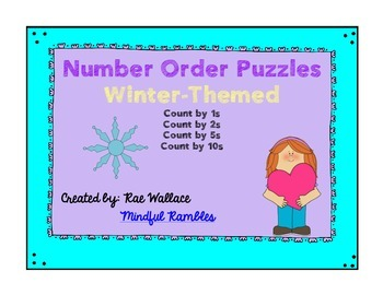 Number Order Puzzles - Winter Theme!