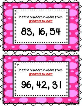 Number Order Scoot - 2 Digit Numbers (Tens)