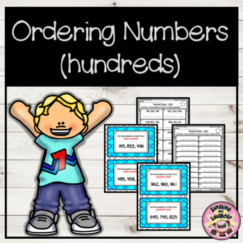 Number Order Scoot - 3 Digit Numbers (Hundreds)