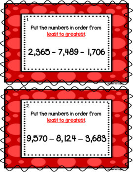 Number Order Scoot - 4 Digit Numbers (Thousands)