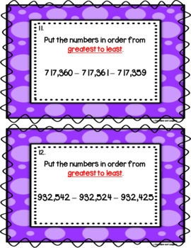 Number Order Scoot - 6 Digit Numbers (Hundred Thousands)