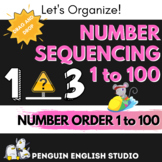 Number Order - Sequencing - 1 to 100 - BOOM CARDS