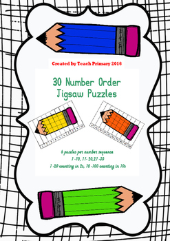 Number Order Jigsaws - Sequencing Full Set