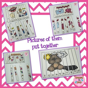 Number Order & Skip Counting Puzzles (February Theme)