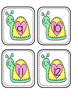 Number Order Snails