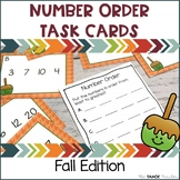 Number Order Task Cards—Fall Edition