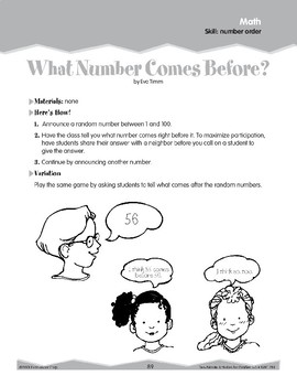 Number Order (Ten-Minute Activities)