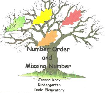 Number Order With Fall Leaves and Acorns!