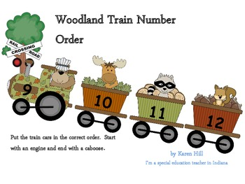 Number Order Woodland Train