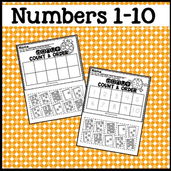 Number Order Worksheets Counting 1-10