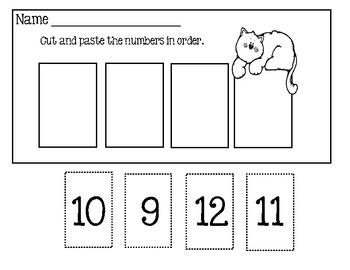 Number Order Worksheets - Cut And Paste 1-32