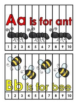 Number Order and Phonics Puzzles