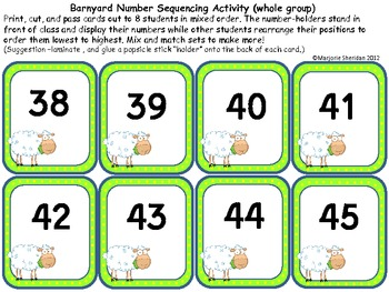 Number Order and Sequence Activity Pack
